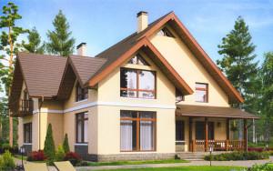 Проект дома 294,9 м.кв. (мансарда)