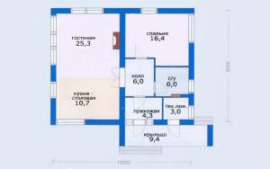 Проект дома 70,7 м.кв.