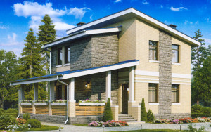 Проект дома 93,2 м.кв. (мансарда)