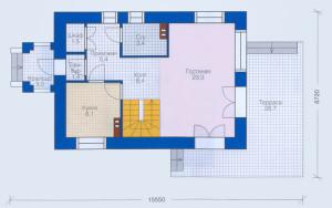 Проект дома 98,9 м.кв. (мансарда)