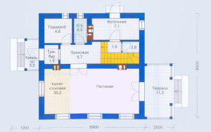 Проект дома 109,4 м.кв. (мансарда)