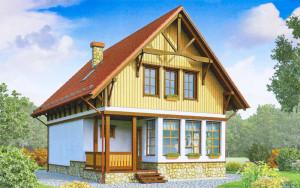 Проект дома 115,9 м.кв. (мансарда)