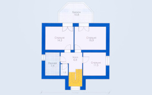 Проект дома 118,7 м.кв. (мансарда)