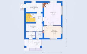 Проект дома 119,9 м.кв. (мансарда)