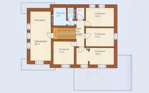 Проект дома 203,3 м.кв. (гараж)