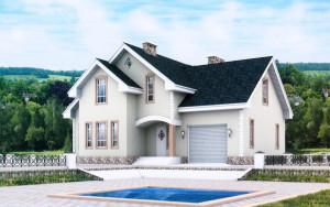 Проект дома 205,0 м.кв. (мансарда, гараж)
