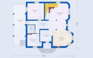 Проект дома 207,3 м.кв. (мансарда)