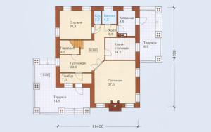 Проект дома 208,3 м.кв. (мансарда)
