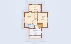 Проект дома 209,7 м.кв. (мансарда, гараж)