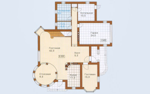 Проект дома 216,3 м.кв. (мансарда, гараж)
