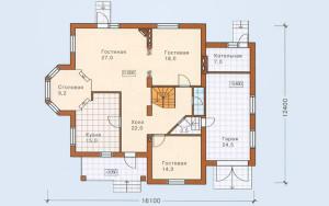 Проект дома 247,5 м.кв. (гараж)