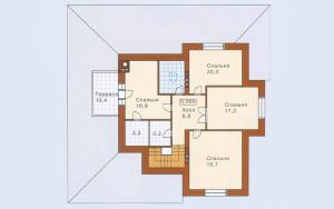 Проект дома 249,0 м.кв. (мансарда, гараж)