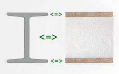 Сравнение СИП панели с двутавровой балкой