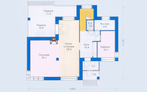 Проект дома 144,8 м.кв.
