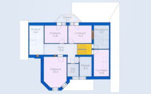 Проект дома 242,8 м.кв. (мансарда, гараж)