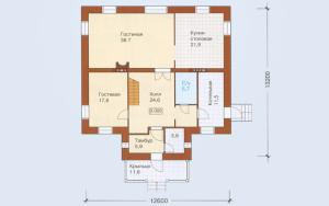 Проект дома 258,9 м.кв. (мансарда)