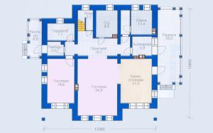Проект дома 262,1 м.кв.