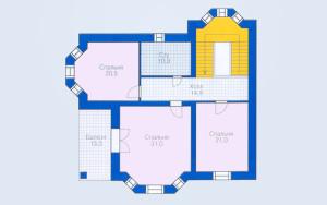 Проект дома 265,8 м.кв. (гараж)