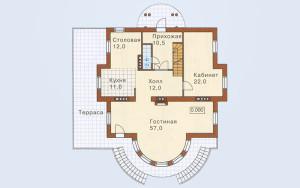 Проект дома 281,4 м.кв. (мансарда, гараж)
