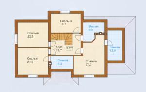 Проект дома 282,4 м.кв. (мансарда, гараж)