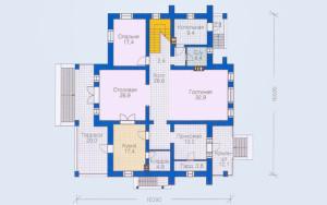 Проект дома 297,4 м.кв.