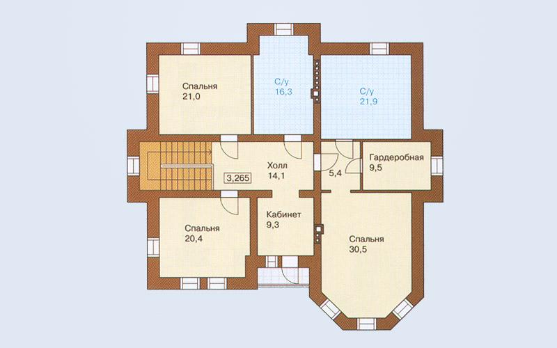 Площадь второго этажа – 148 4 кв м