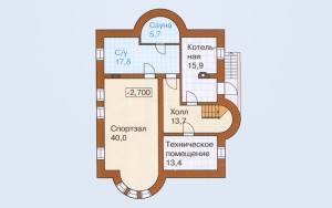 Проект дома 304,7 м.кв. (мансарда)