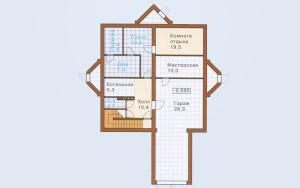 Проект дома 305,1 м.кв. (гараж)