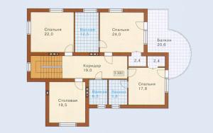 Проект дома 311,0 м.кв. (мансарда, гараж)
