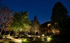 Ландшафтный дизайн, ночное освещение