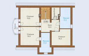 Проект дома 190,3 м.кв. (мансарда)