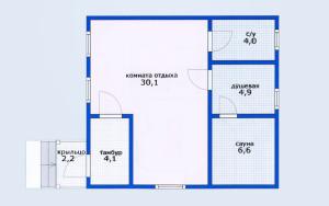 Проект бани 49,7 м.кв.