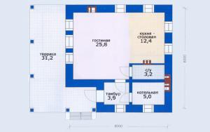Проект дома 50,3 м.кв.