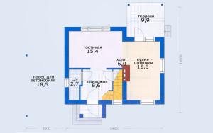 Проект дома 79,4 м.кв. (мансарда)