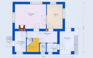 Проект дома 97,0 м.кв. (мансарда)