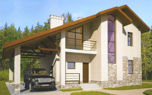 Проект дома 102,4 м.кв. (мансарда)
