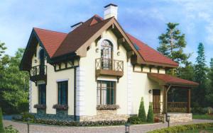Проект дома 110,8 м.кв. (мансарда)