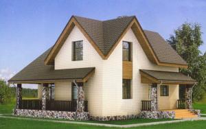 Проект дома 114,1 м.кв. (мансарда)