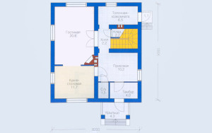 Проект дома 116,2 м.кв. (мансарда)
