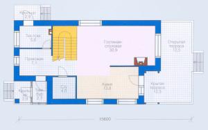 Проект дома 124,8 м.кв.