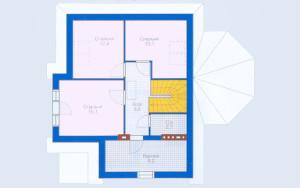 Проект дома 127,2 м.кв. (мансарда)