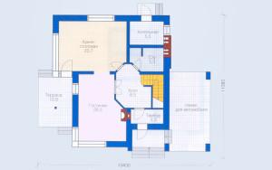 Проект дома 130,7 м.кв. (мансарда)