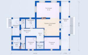Проект дома 132,1 м.кв.