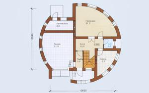 Проект дома 201,4 м.кв. (гараж)