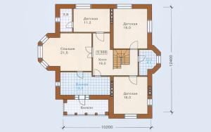 Проект дома 225,0 м.кв. (гараж)