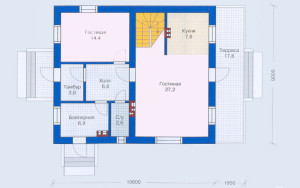Проект дома 137,8 м.кв. (мансарда)