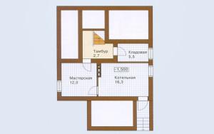 Проект дома 146,4 м.кв. (мансарда)