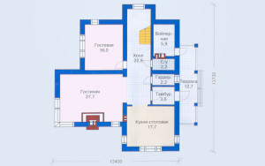 Проект дома 167,1 м.кв.