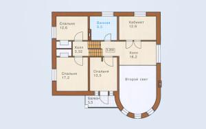 Проект дома 195,3 м.кв. (гараж)
