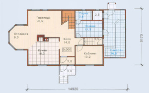 Проект дома 201,8 м.кв. (мансарда)
